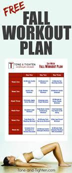 free 6 week fall workout plan tone