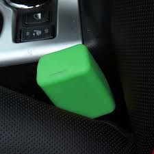 safe rubber car seat belt clips locking buckles protective cover green