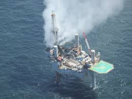 A fire erupted in the gulf of mexico after a gas leak on friday. Gas Well On Fire After Blowout In Gulf Of Mexico The Two Way Npr