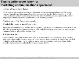 Communication Cover Letter Marketing Communications Specialist Cover Letter
