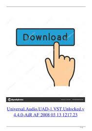 Universal Audio Uad 1 Vst Unlocked V4 4 0 Air Af 2008 03 13