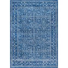nuloom vintage waddell dark blue 4 ft x 6 ft area rug