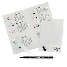 Tombow Dual Brush Pen Blank Color Chart Tombow Dual Brush Pen Blending Kit