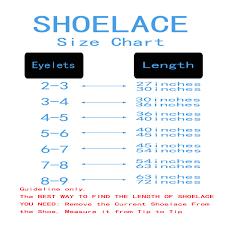 Shoelace Width Chart