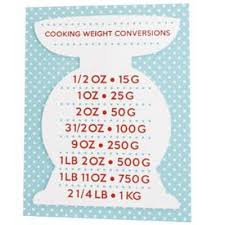 Polka Dot Weight Conversion Plaque Wooden Baking Measure