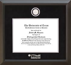 uthsc houston diploma frame custom silver medallion wordyisms uthsc houston diploma frame custom silver medallion