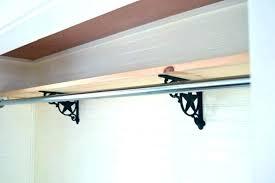 wood closet rod home depot closet rod support photo of wooden bracket adjule home depot center