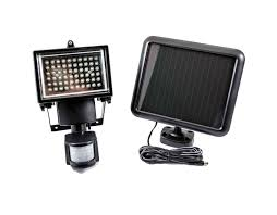 solar powered led security motion detector outdoor light