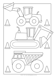 Construction Colouring In Pages