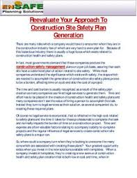Site Safety Plans Reevaluate Your Approach To Construction Site Safety Plan Generation