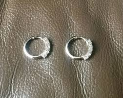 whole new argos platinum plated stirling silver cubic zirconia hoop earrings faversham area 7474a ac70c