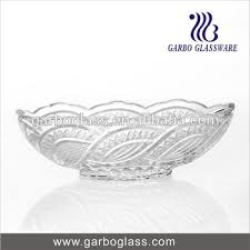 Decorative Clear Glass Bowls Lotus Shape Large Buffetrestaurant Use Decorative Glass Salad 45