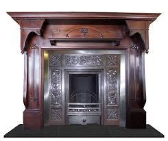 antique mantel cast iron fireplace