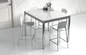 CANCIO Esstisch Multipla Glas weiß Aluminium