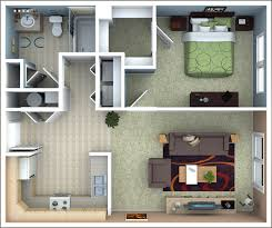 one bedroom house plans. Beautiful One 1 Bedroom Apartment Floor Plan On One House Plans