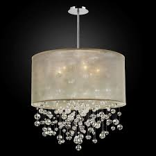 drum chandelier with crystals drum shade over chandelier hanging lamps