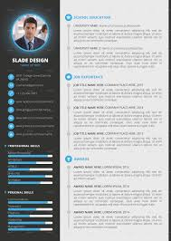 pro cv template slade professional quality cv resume template by sladedesign
