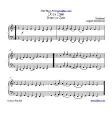 dies irae sheet music the dies irae is an ancient gregorian chant though frequently used