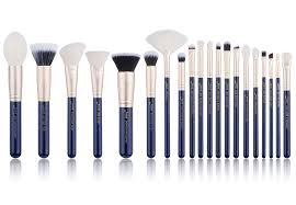 new jessup best makeup brushes cosmetic set eyeshadow powder prussian blue 20pcs