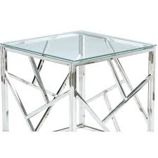 chrome glass end tables coffee table side home and round c