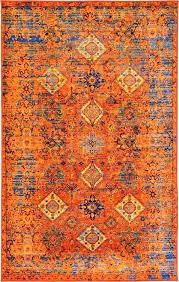 burnt orange rug alluring bazaar burnt orange aqua ruby area rug of and teal burnt orange rug argos