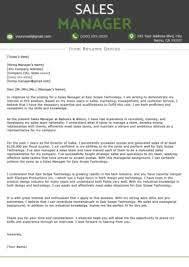 Sales Cover Letter Example Resume Genius