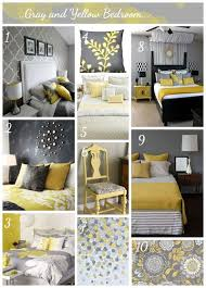 Yellow Grey Bedroom Decor
