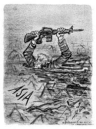 vietnam war overview  this herblock cartoon depicting the vietnam war as a quagmire was published 2 days before the tet offensive