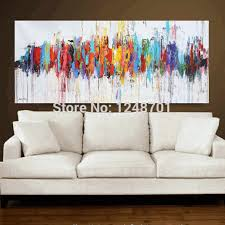 oil painting ideas for living room modern abstract oil paintings on canvas turquoise wall art free
