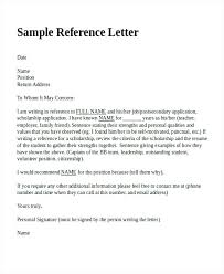References Letter Template Reference Free Sample Example Format ...