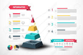 Web Design Sample Text Infographic Vector Design With Pyramid And Sample Texts Four