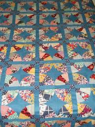 96 best Feedsack Friendly Quilts images on Pinterest | Autumn leaf ... & VTG Quilt Top Floral FEEDSACK Fabric! BLUE Bckgrnd~75 X 88 Hand/Machine Adamdwight.com