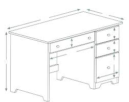 office desk dimensions standard metric