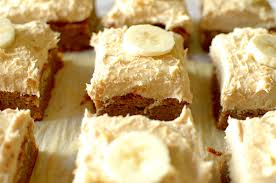 Flourless Gluten Free Banana Cake With Peanut Butter Frosting Paleo