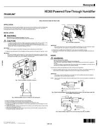 honeywell he360 humidifier manual what is a humidifier he360a1075 at Honeywell He360 Wiring Diagram