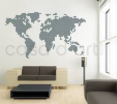 Small Picture Dotted World Map contemporary wall decal sticker Pattern Wall