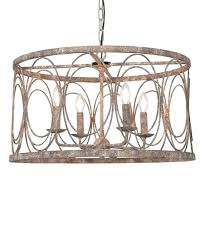 crystal drum chandelier metal shade extra large