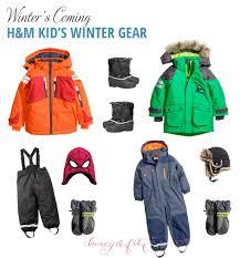 h m kids winter gear