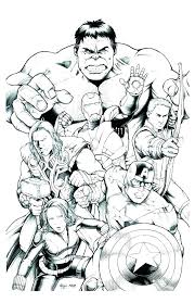 Avengers Coloring Pages Free Book Plus Hulk Printable Colouring Pdf