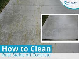 how to clean rust stain off concrete