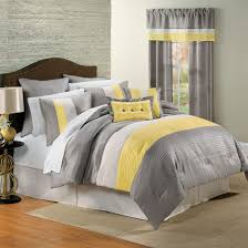 image of grey and yellow bedroom curtains