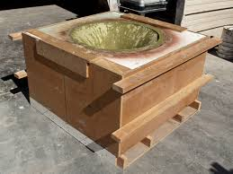 round concrete table top and base table base casting cheng concrete exchange