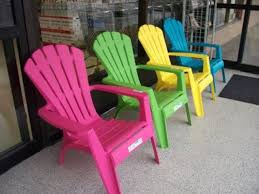catchy plastic colored adirondack chairs with with these plastic chairs pick a fun color the brown