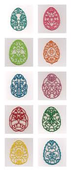 Free Standing Lace Easter Designs Fsl Decorative Easter Eggs Embroidery Machine Design Details