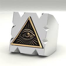 ring mens punk freemason totem jewelry