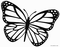 Small Picture Monarch Butterfly Coloring Page Coloring pages Pinterest
