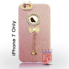 Mobile Cover Designs Handmade Kc Luxury 3d Rhinestones Crystal Diamond Deluxe Bling Bowknot Handmade Soft Back Cover For Iphone 7 Black