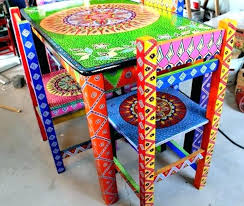 colorful painted furniture. Delighful Painted Mexican Painted Furniture Colorful Hippie Chic Con Google  Chairs Dining And Colorful Painted Furniture E