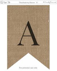 Rustic Burlap Banner Letters Knick Of Time