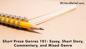 short prose genres essay short story commentary and mixed  short prose genres 101 essay short story commentary and mixed genre